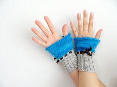 parmaksız eldiven örgü eldiven, el örgü eldiven, gri eldiven, eldiven, kısa eldiven, bej, mavi, kahverengi el, bilek ısıtıcıları ..
