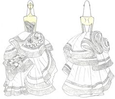 Must-have сезона: свадебное платье Katherine от Vera Wang: Эскиз свадебного платья Katherine   Фотографии