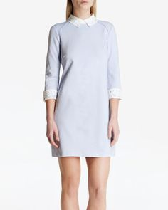 Lace collar tunic - Powder Blue | Dresses | Ted Baker UK