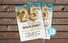 Editable 25th Birthday Invitation | 25th Birthday Ideas, 25th Invitation, 25th Gold Invite, 25th Blue Invite, 25th Classy Invite #TwentyFifthInvite #25thClassyInvite #25thGoldInvite #25thBirthdayIdeas #Womens25thInvite #25thBirthday #Editable25th #25thInvitation #25thBlueInvite #25thBirthdayInvite