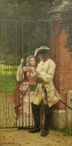 monsieurleprince:  Edmund Blair Leighton (1852 - 1922) - What shall I say, 1889