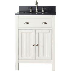 Avanity Hamilton French White 24 Inch Vanity Combo | Overstock.com Shopping    The Best Deals On Bathroom Vanities