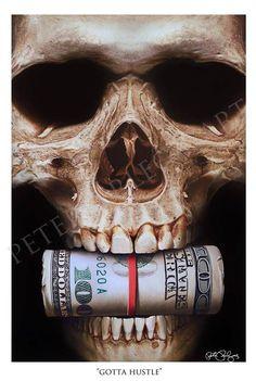 Skull Paintings by Peter Perlegas