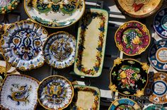 why match your plates when you can just find treasures all over the world?