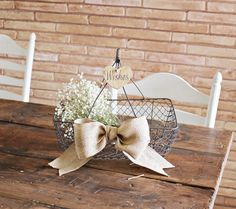 large vintage style rustic wedding / event basket . by montanasnow, $38.00
