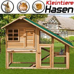 Kaninchenstall XXL HASENSTALL Kaninchenkäfig Freilauf Hasenkäfig Käfig Hase in Haustierbedarf, Haustierbedarf | eBay