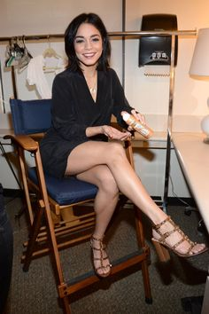 804948cd009f1 ... Vanessa Hudgens Legs Look Amazing Before ABC Studios Interview Photo Vanessa  Hudgens is all smiles while  See more.