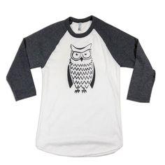 Irritated Owl - Unisex 3/4 Sleeve Raglan