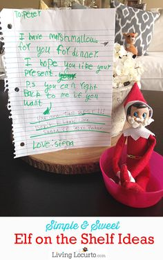 Simple Elf on the Shelf Ideas! LivingLocurto.com