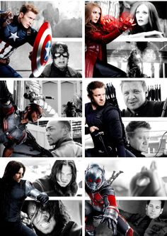 Oh yeah!!!! Practically all my favorites anyway. I am SO glad Antman is on Cap's team!