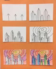 Art Education Lessons, Art Lessons For Kids, Art Lessons Elementary, Kindergarten Art Lessons, Elementary Art Rooms, Art Education Projects, Classroom Art Projects, School Art Projects, Art Classroom