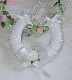 lucky horseshoe..bride memento..wedding by noordinarybib on Etsy