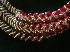 Double Row Flat Spiral Stitch Bracelet Tutorial in the process of making