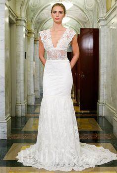 A daring lace @vkkny wedding dress   Brides.com