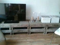 Tv meubel diy fruit kistjes