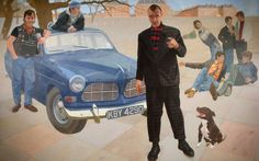 Lord Volvo and His Estate by Humphrey Ocean Wolverhampton Arts and Heritage Date painted: 1982 Acrylic on canvas, 178 x 287.5 cm Collection: Wolverhampton Arts and Heritage