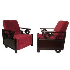 Art Deco Club Chairs thumbnail 1