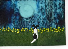 Smooth Fox Terrier Dog ACEO folk Art Painting Original Miniature by Todd Young. $24.95, via Etsy.