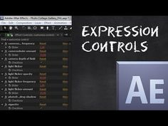 After Effects: Expression Controls Tutorial - YouTube