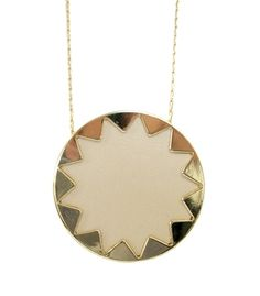 House of Harlow 1960. Cream sunburst necklace.
