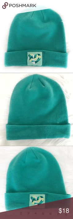 989aacd29df Youth M THE NORTH FACE green knit hat w logo. Like new condition.  Youth junior M M. Stocking hat  winter hat  warm hat K13 The North Face  Accessories Hats