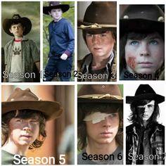 Carl Grimes evolution Seasons 1-7