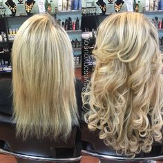 Hair Extension before and after! Book Online 24/7 at www.eyesonyoutampa.com or call us!  (813)434-0234