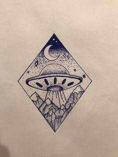 #UFO #geometric #moon #night #believe #stars #dreams #mountains