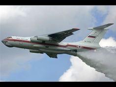 Rússia: Veja aviões da EMERCOM jogando toneladas de água sobre incêndios florestais em Amur - YouTube