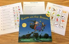 Room on the Broom with Free Book Companion! - The Autism Helper Preschool Speech Therapy, Speech Therapy Games, Preschool Books, Preschool Lessons, Preschool Activities, Preschool Learning, Learning Games, Library Activities, Speech Therapy Activities