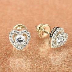 Necklace Set SO SEOUL Womens Diamond Simulant Halo Square Earrings