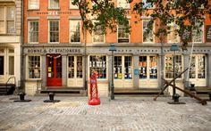 """""""Bowne and Co. Stationersis one of my top 10 NYC shops,"""" says Kyle Gray, host atAndaz Wall Street. """"Though the South Street Seaport store has only been open since 1975, the company was founded in 1775. The shop is full of one-of-a-kind products, like sculptures made from salvaged New York street signs. It also houses one of the country's oldest still-functioning letterpresses. I always have a hard time walking out without buying something."""""""