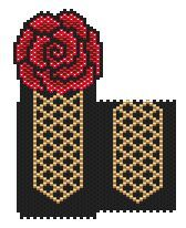 of Spain Amulet Bag Pattern at Sova- lots of free beading patterns and tutorials are available! Beading Patterns Free, Bead Loom Patterns, Peyote Patterns, Purse Patterns, Beaded Clutch, Beaded Purses, Beaded Bags, Beaded Crafts, Beaded Ornaments