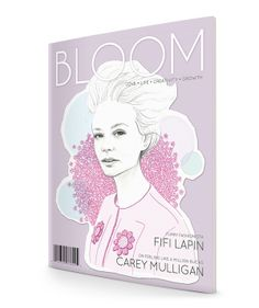 Bloom Magazine by Jasmine Ting, via Behance Love Articles, Carey Mulligan, Jasmine, Bloom, Behance, Magazine, Feelings, Creative, Illustration