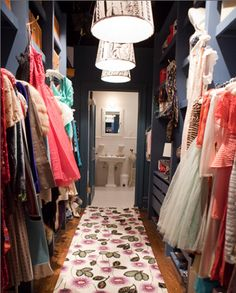 """Every girl has forever wished for a """"Carrie Bradshaw walk through closet"""" ❤"""
