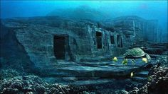 There's a mysterious massive underwater monument off the coast of Japan. It's called the Yonaguni Monument, located off the coast of Yonaguni, the southernmost of the Ryukyu Islands, and scholars have yet to figure out whether it's… Ancient Ruins, Ancient Artifacts, Ancient History, Historical Artifacts, Under The Water, Atlantis, Ufo, Underwater Ruins, Sunken City