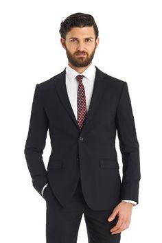 DKNY Men's Slim Fit Black 2 Piece Suit  http://www.allmenstyle.com/dkny-mens-slim-fit-black-2-piece-suit/