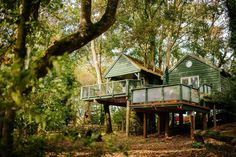 13 Amazing Treehouse Holidays With a Hot Tub in the UK [2021] Beautiful Places To Visit, Great Places, Chicken Shed, Large Bbq, Cotswold Villages, Farm Holidays, Holiday Accommodation, Sustainable Architecture, Modern Architecture
