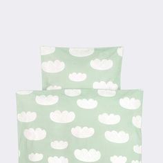 Mint Clouds Kids Duvet Set