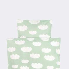 Mint Clouds Kids Duvet Set