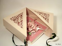Happy Thursday, Finally here is the tutorial for the filigree box using Spellbinders Gold Elements one die for the peony card.  I hav...