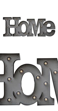 There's no place quite like home. Welcome yourself and occasional visitors to your beloved living space with this charming Homey Marquee Sign. Sprinkled with a sampling of LED bulbs, this metal marquee...  Find the Homey Marquee Sign, as seen in the Industrial Chic Collection at http://dotandbo.com/collections/industrial-chic?utm_source=pinterest&utm_medium=organic&db_sku=114598