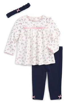 Little Me Baby-Girls 3 Piece Tunic Set, 9 Months: Sweet vine tunic set. My Little Girl, My Baby Girl, Baby Girl Newborn, Baby Girls, Night Suit, Night Gown, Kids Outfits, Cute Outfits, Stretchy Headbands