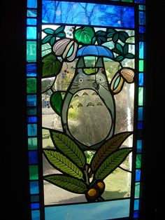 miyazaki stained glass | ... taking pictures of the colorful stained glass windows of the museum