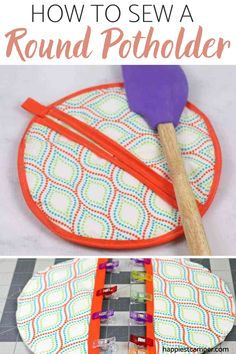 A fun alternative to square potholder, this Round Potholder tutorial shows you how to sew one that will prove to come in handy for your big pots in the kitchen! Not only is this a step by step sewing tutorial, but it also includes a Free Printable Sewing pattern for it! Check out our easy sewing project to start making your very own round potholder now. How To Sew A Round Potholder. Easy Sewing Projects, Sewing Tutorials, Sewing Crafts, Free Printable Sewing Patterns, Free Sewing, Sew Gifts, Best Housewarming Gifts, Christmas Gifts For Girls, Make A Gift