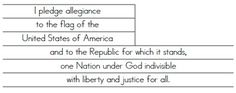 Here's a flag template where students color the flag and then cut out the words to the Pledge of Allegiance and paste them onto the white stripes of the flag.