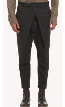 Haider Ackermann Drape Over Front Cropped Pants