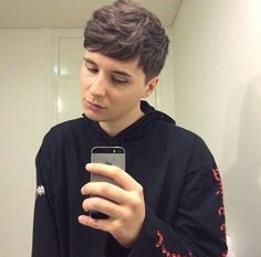 """my hair doesn't look too wild natural atm when it's shorter should i leave it like this""  -Dan Howell"
