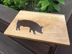 Oak cutting Board with ipe Inlay Happy Lab, Cutting Boards, Cnc, Moose Art, Animals, Projects, Animales, Animaux, Cutting Board