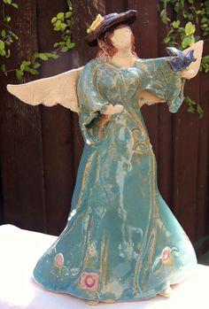 Garden Angel Sculpture by kgnorton on Etsy